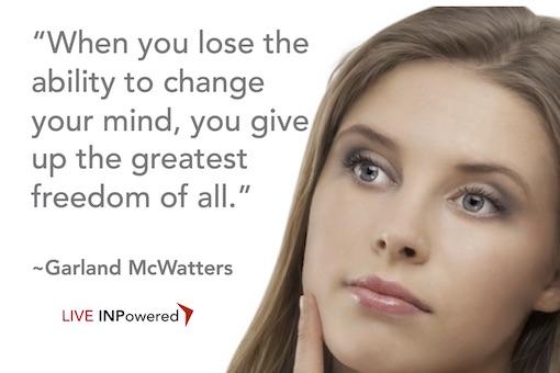 Garland McWatters, Tulsa OK, personal development, change mind, personal freedom,