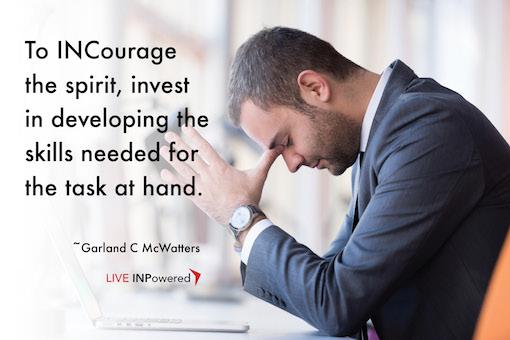 Garland McWatters quote, discouragement, encouragement,