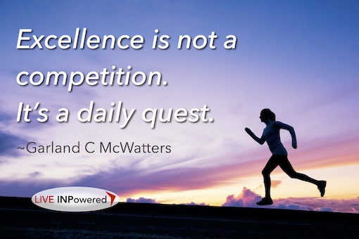 Garland McWatters, author, Tulsa OK, excellence, accountability, competition, persistence, grit