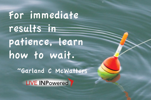 Garland McWatters, author, Tulsa OK, patience, anxiety, reducing stress, multi-tasking