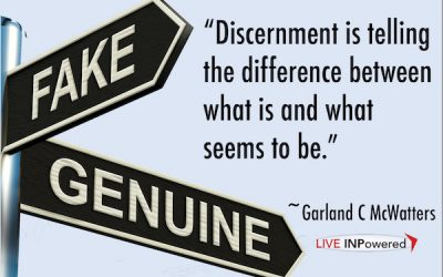 Be discerning