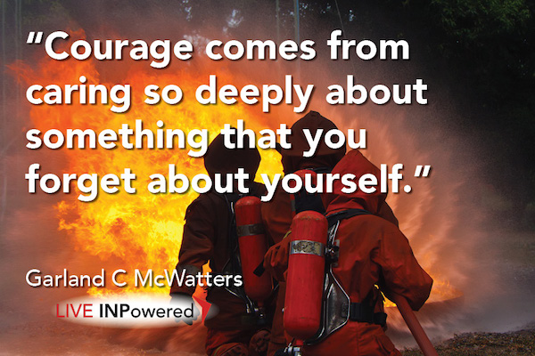 Garland McWatters, INPowering Thoughts, courage, purpose, heroes, Tulsa, OK leadership
