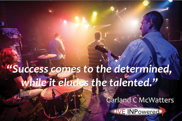 Garland McWatters, author, leadership Tulsa, success, determination, practice, grit, talent