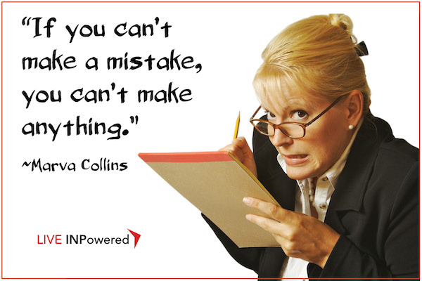 Garland McWatters, INPowering Thoughts, mistakes, planning, risk, creativity