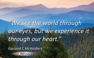 We experience the world through our heart