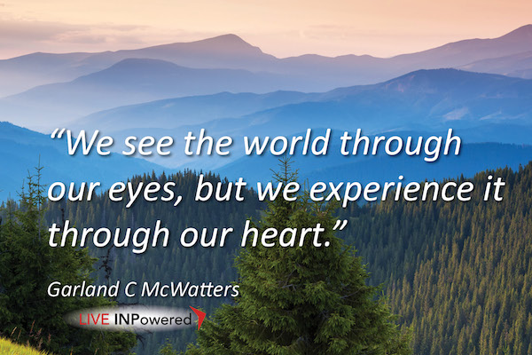 Garland McWatters, INPowering Thoughts, environment, perception, spiritual connection, nature, human justice, social justice, human rights