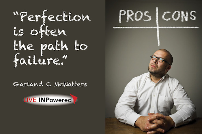 Garland McWatters, leadership trainer Oklahoma, perfectionism, mental paralysis, procrastination
