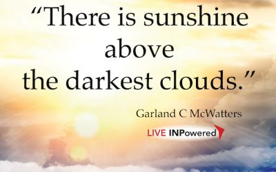 The sun shines above the darkest clouds