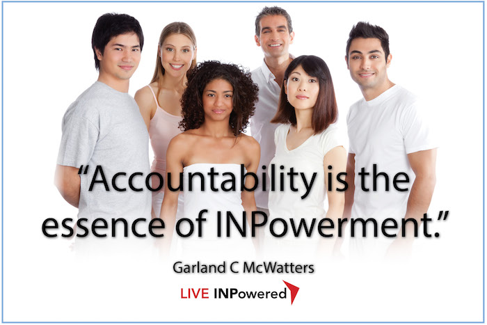 Garland McWatters, Leadership trainer Oklahoma, accountability, responsibility, empowerment