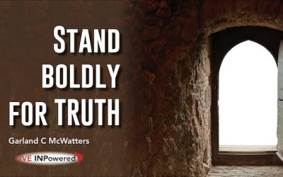 Stand boldly for truth