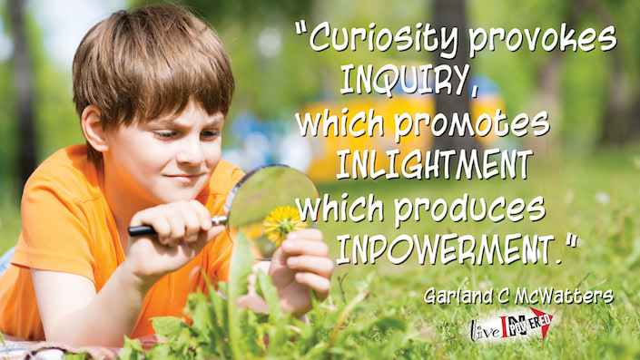 Garland McWatters, INPowering Thoughts, author, Tulsa Oklahoma, curiosity, enlightenment, learning, nature, wisdom