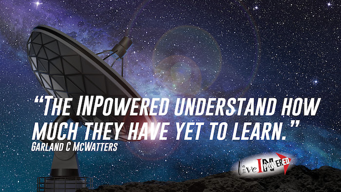 Garland McWatters, INPowering Thoughts, author, Tulsa Oklahoma, knowledge, learning, curiosity, astronomy, humility