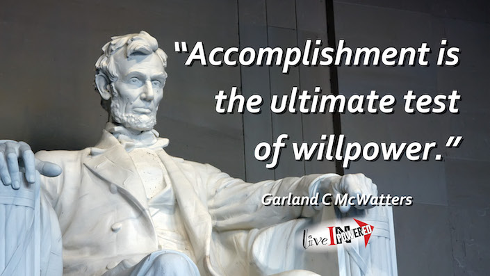 Garland McWatters, INPowering Thoughts, author, Tulsa Oklahoma, accomplishment, willpower, Independence Day, success, patriotism